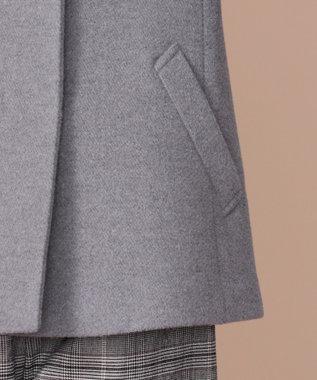 any SiS アンゴラブレンドビーバー スタンドネック コート グレー系
