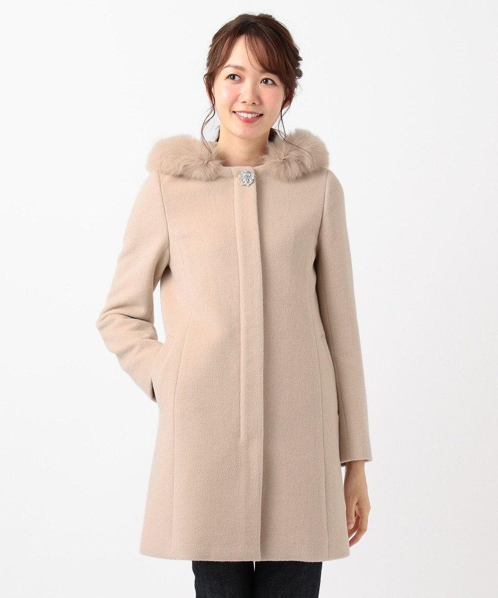 any SiS L 【3WAY】ロイヤルアンゴラ ミドル コート ベージュ