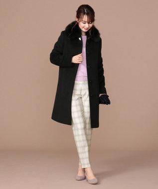 any SiS L 【2WAY】ロイヤルアンゴラ ステンカラー コート ブラック