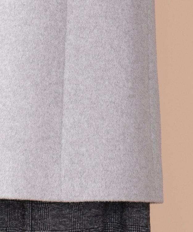 any SiS S 【2WAY】ロイヤルアンゴラ ステンカラー コート ライトトップグレー