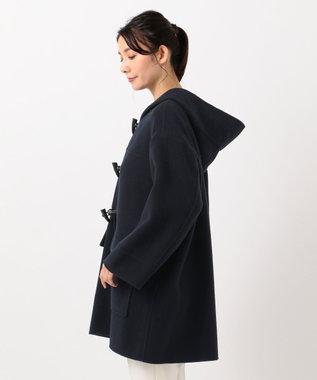 組曲 【カシミヤ混】W/Ny カシミヤリバー ダッフルコート ネイビー系
