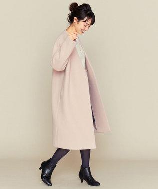 組曲 L MANTECO カラーレスコート ピンク系