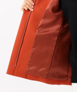 組曲 L Pecolamb ソフトメルトン ショートフードコート オレンジ系