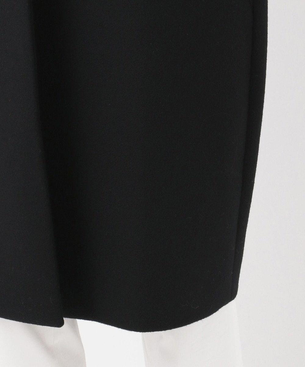 組曲 S 【Oggi掲載】Pecolamb ソフトメルトン ノーカラーコート ブラック系