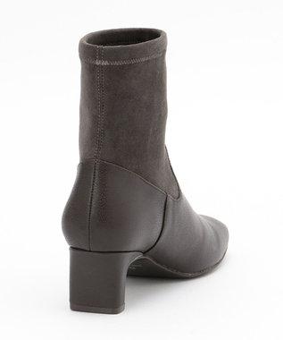自由区 ストレッチ ショート ブーツ(検索番号:UE23) ダークブラウン系