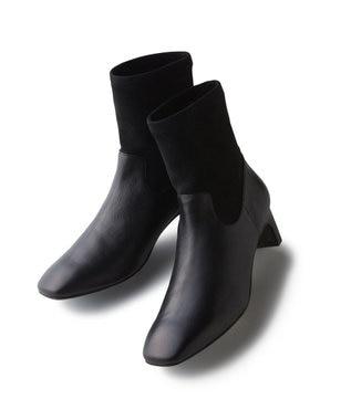 自由区 ストレッチ ショート ブーツ(検索番号:UE23) ブラック系