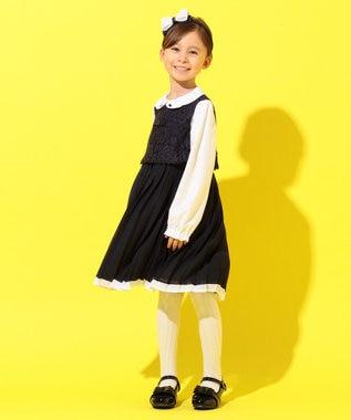 組曲 KIDS 【17-21cm】エナメル パンプスシューズ ブラック系
