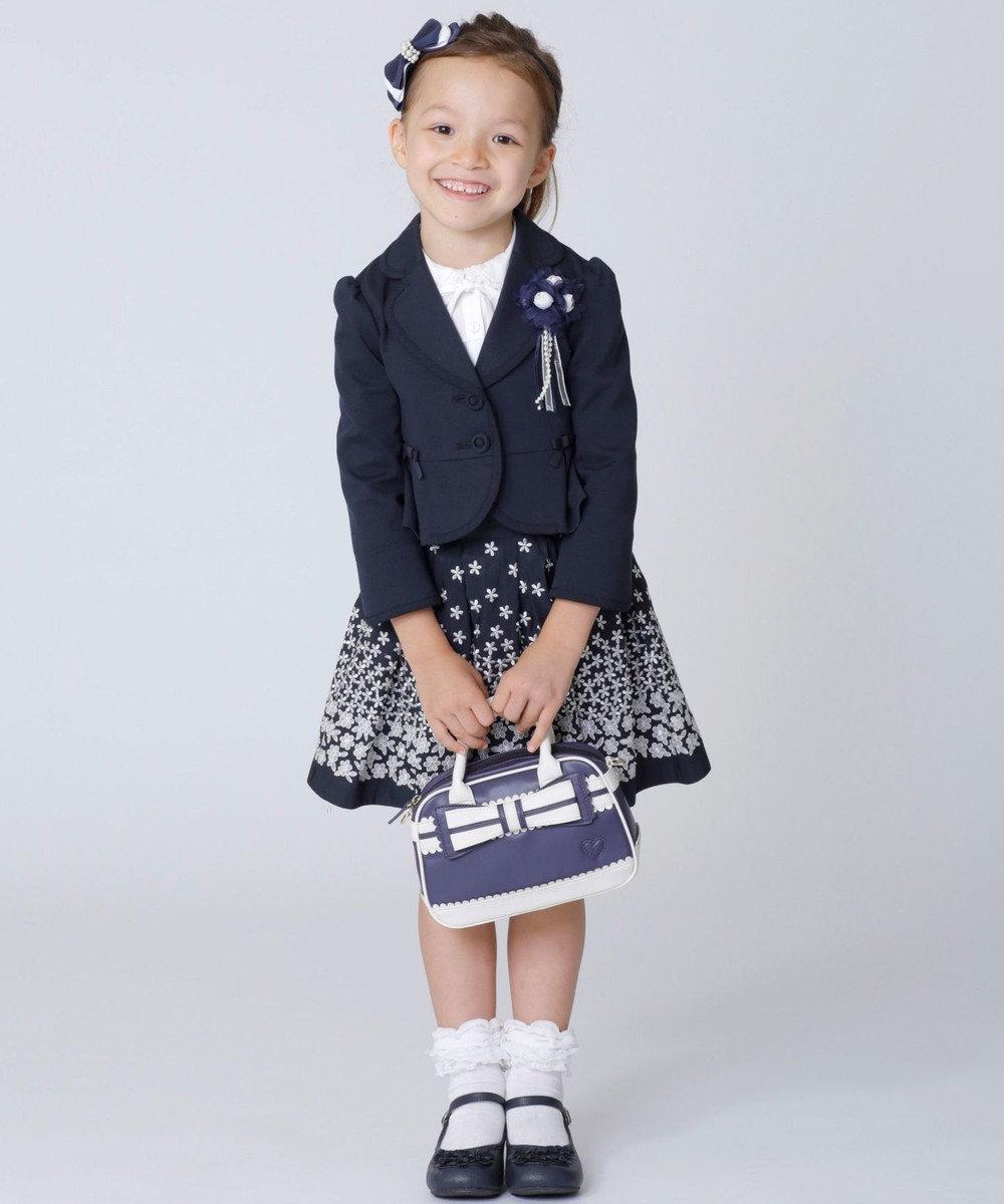 組曲 KIDS 【KIDS雑貨】花モチーフシューズ アイボリー系