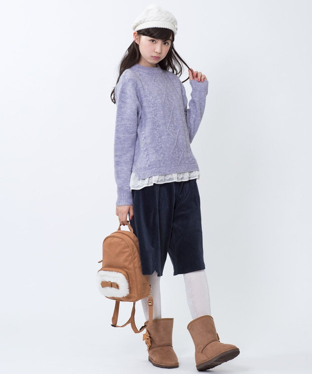 組曲 KIDS 【SCHOOL雑貨】フェイクムートンブーツ