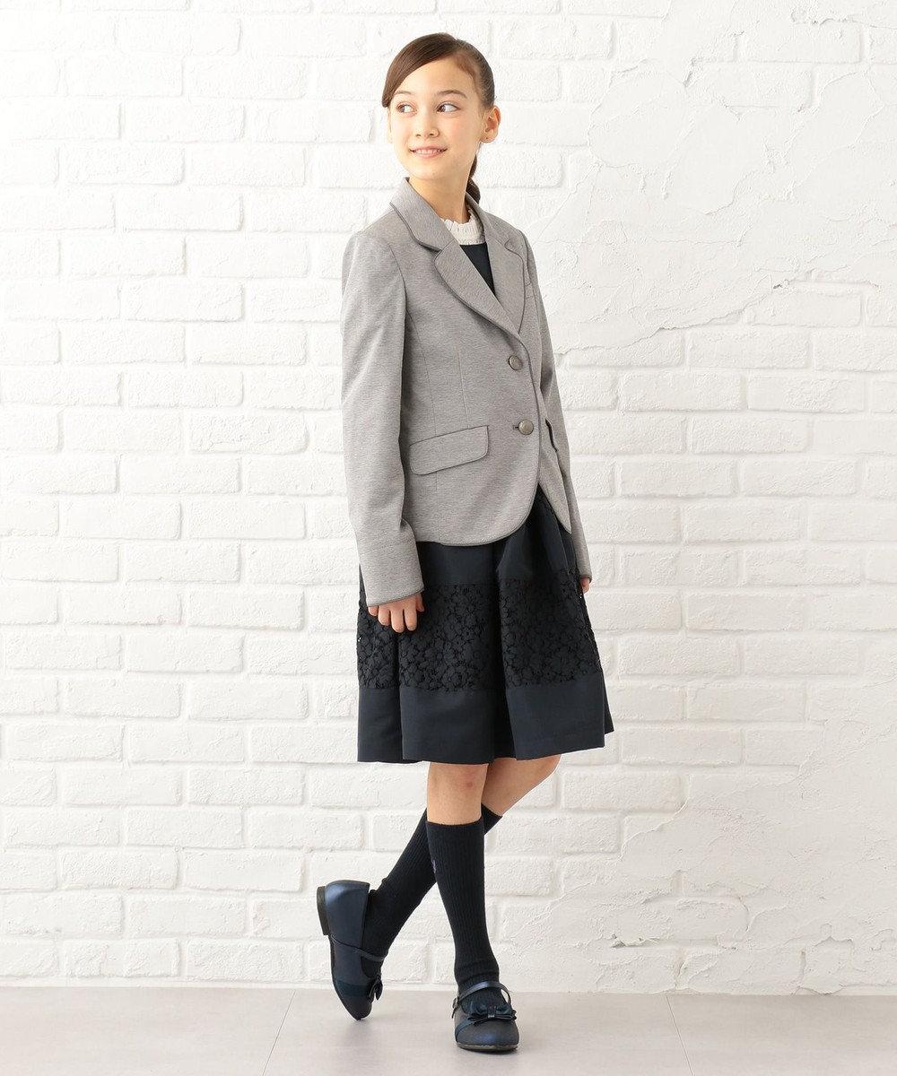 組曲 KIDS 【SCHOOL雑貨】グリッターバレエシューズ (22~24cm) ネイビー系