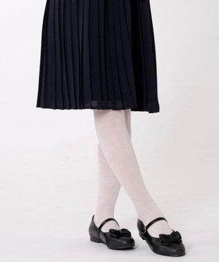組曲 KIDS 【SCHOOL雑貨】グリッターバレエシューズ (22~24cm) ブラック系