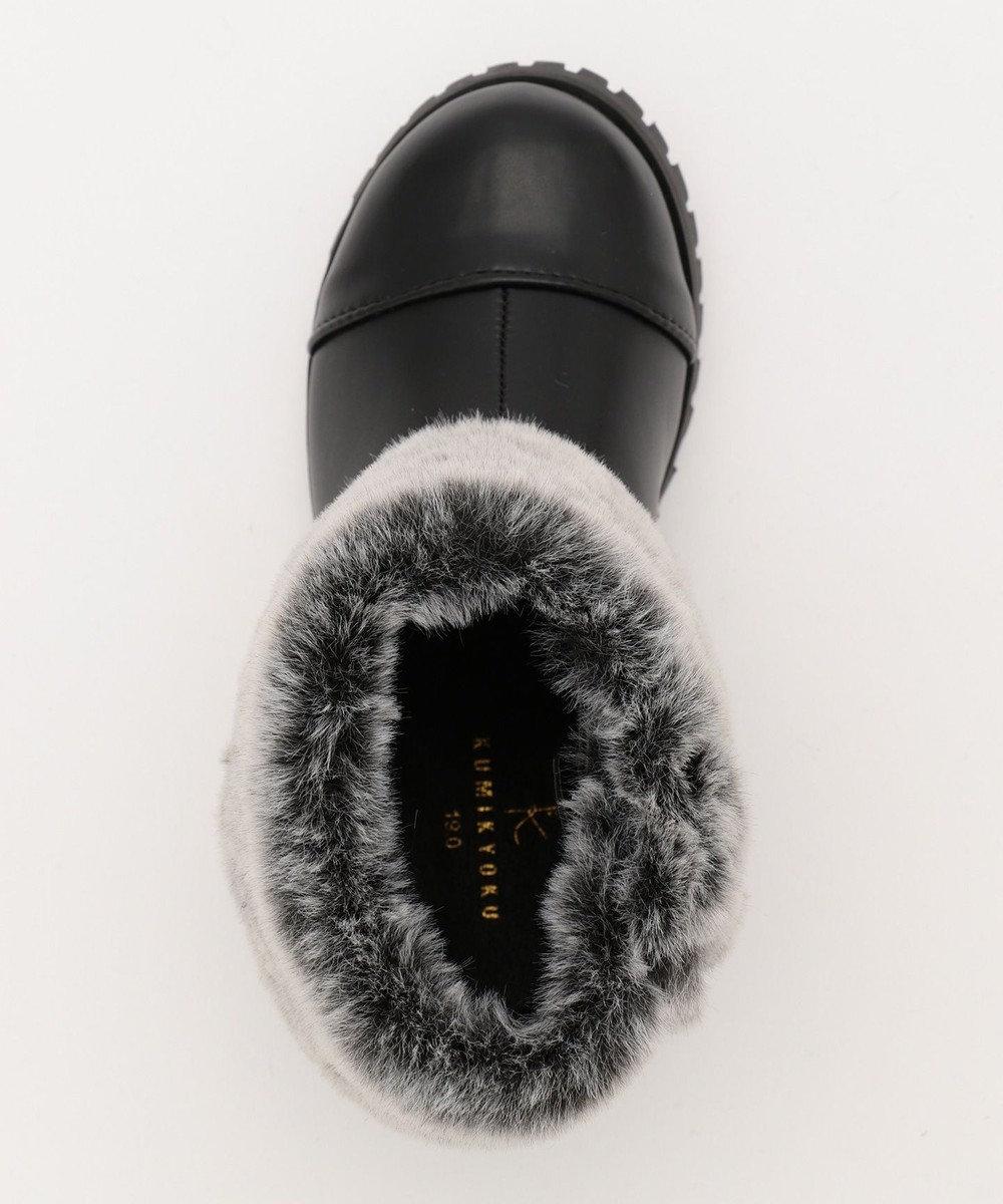組曲 KIDS 【TODDLER雑貨】サークルケーブル ショートブーツ (19-21cm) ブラック系