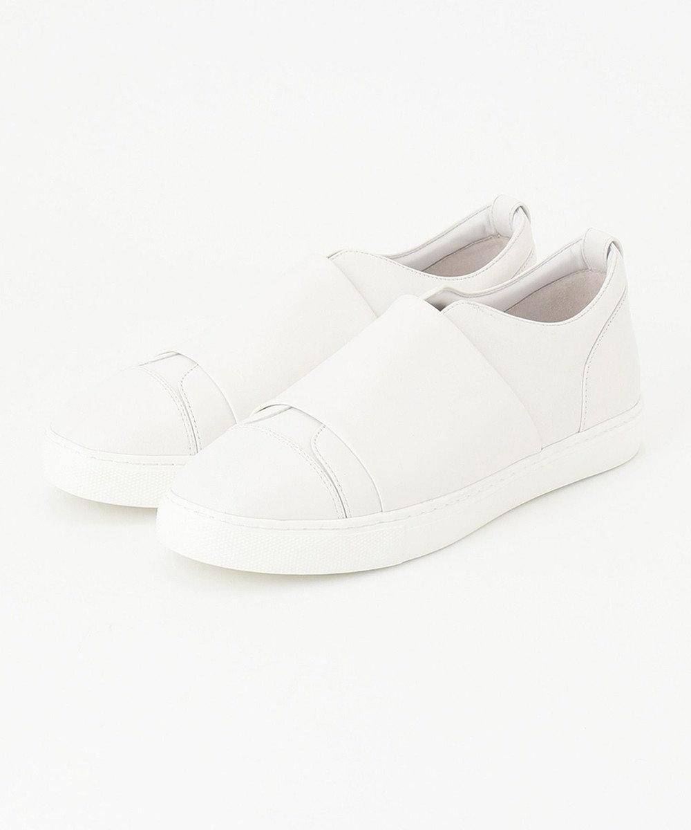 ICB 【マガジン掲載】Sneakers スリッポン レザースニーカー(番号CN32) アイボリー系