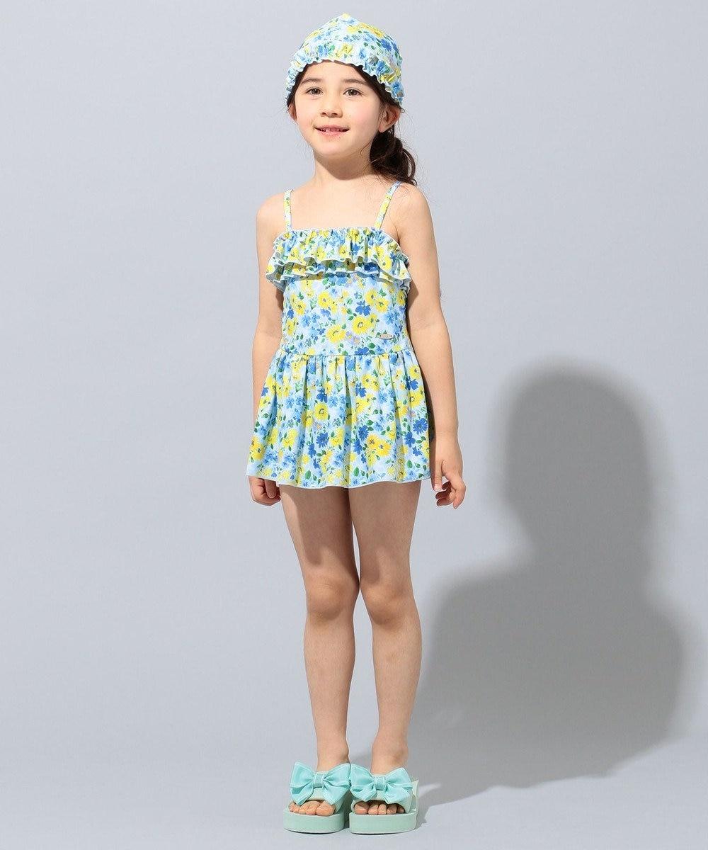 TOCCA BAMBINI 【18-21cm】ウェーブリボンサンダル サックスブルー系