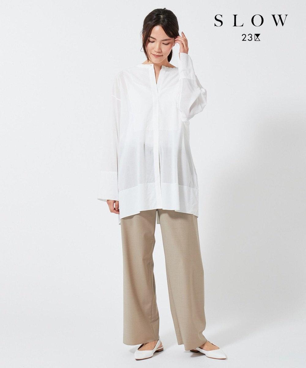 23区 【SLOW】ポインテッドトゥ  バックストラップ サンダル ホワイト系