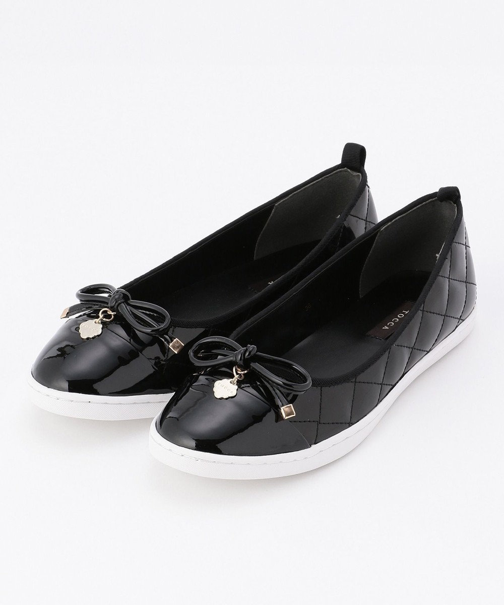 TOCCA QUILTING RIBBON SNEAKERS スニーカー ブラック系