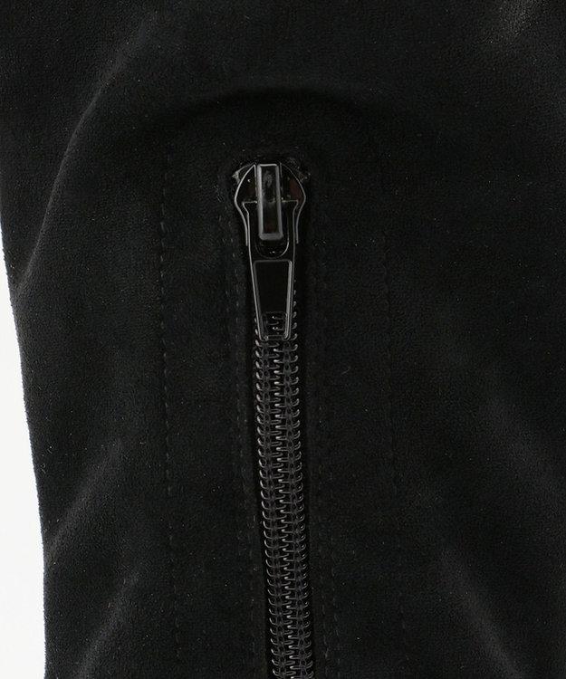 組曲 【23.5cm~24.5cm】ストレッチロングブーツ ブラック系