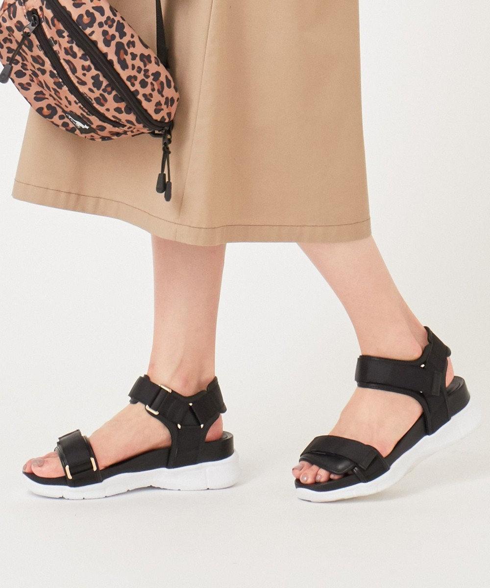 any SiS 【美人百花6月号掲載】グログランリボン サンダル ブラック