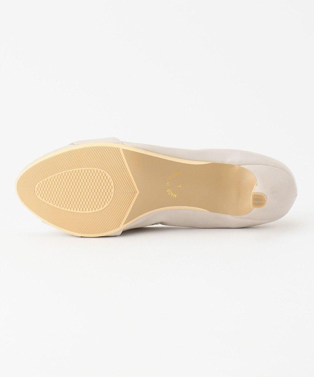 any SiS 【22.5~24.5cm】リボンプチヒール パンプス ライトグレー
