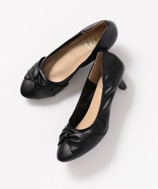 any SiS 【22.5~24.5cm】リボンプチヒール パンプス ブラック