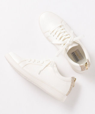 any SiS 【着脱しやすい】マテリアルミックス スニーカー オフホワイト