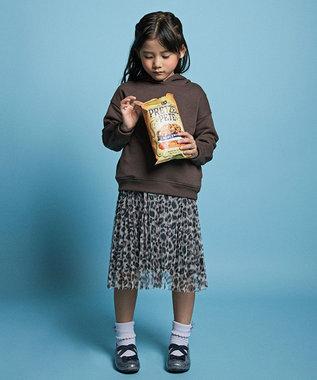 any FAM KIDS 【16-21cm】キラキラ ゴムストラップ バレエシューズ グレー系