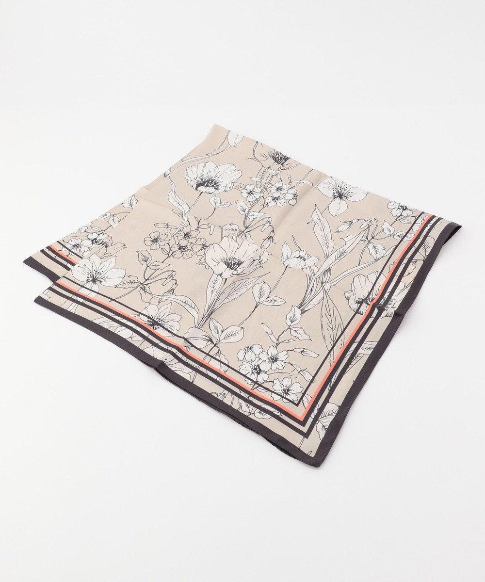 自由区 【Class Lounge】LETI PRINT スカーフ ベージュ系5