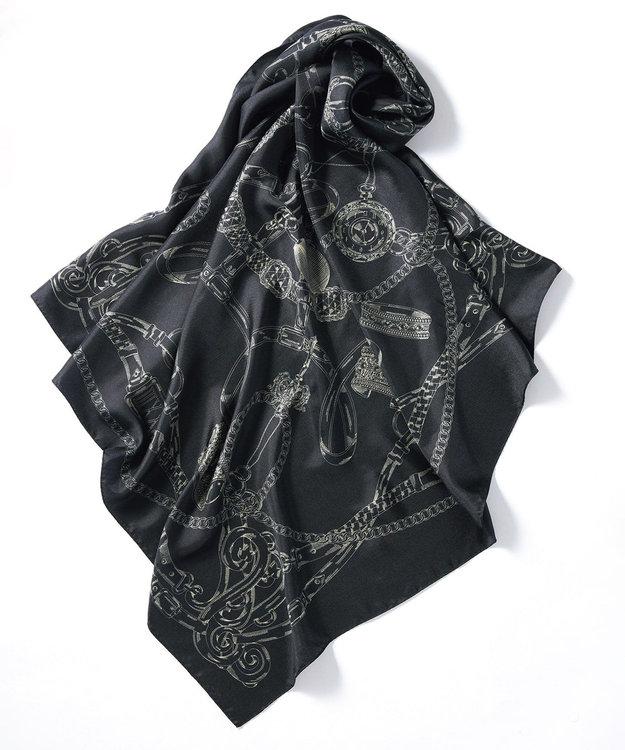 23区 チェーンモチーフ シルク スカーフ