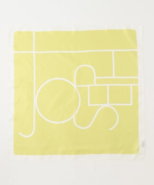JOSEPH ロゴプリント シルク スカーフ イエロー系5