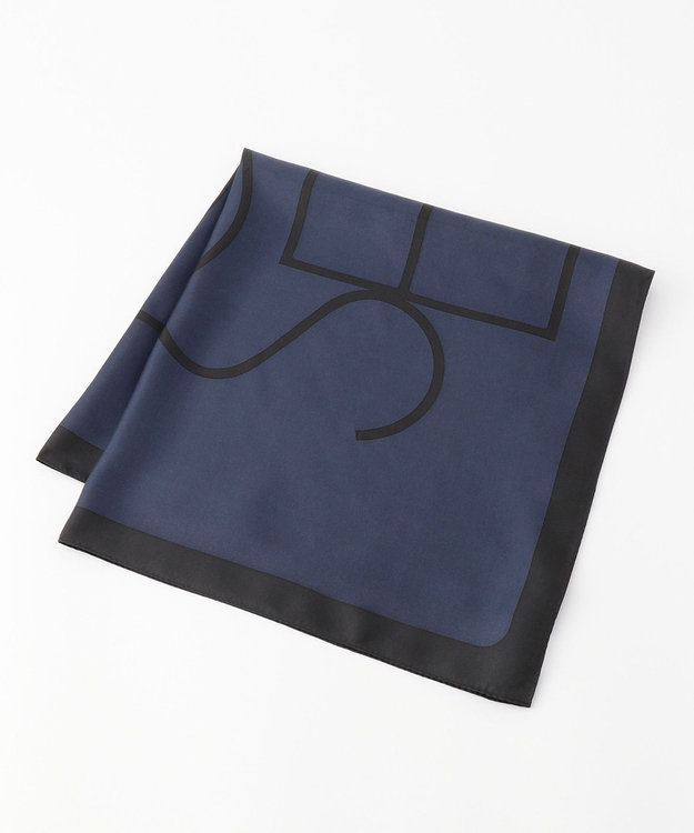 JOSEPH ロゴプリント シルク スカーフ