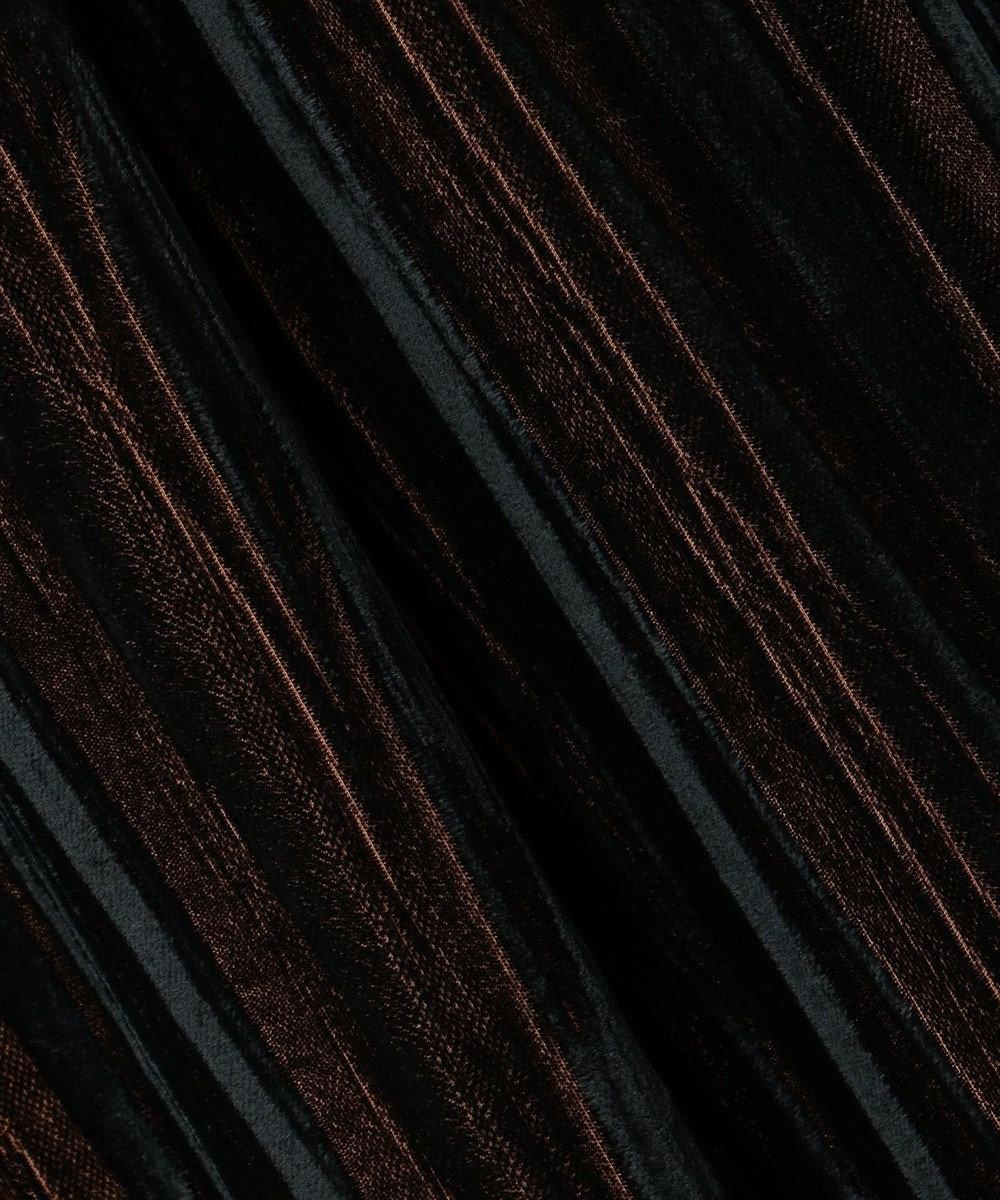 組曲 【VERYWEB掲載/KMKK】ベルベット ロングプリーツスカート ダークブラウン