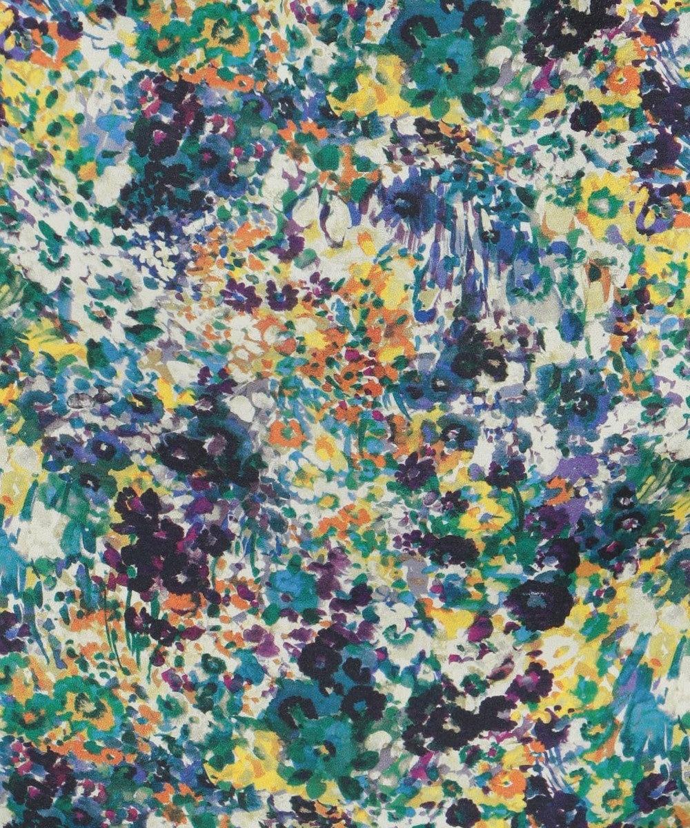 組曲 【KMKK】ピーチサテンマルチフラワープリント スカート ブルー系5