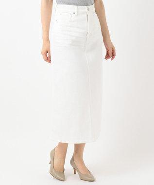 23区 【洗える】23区DENIM スカート ホワイト系