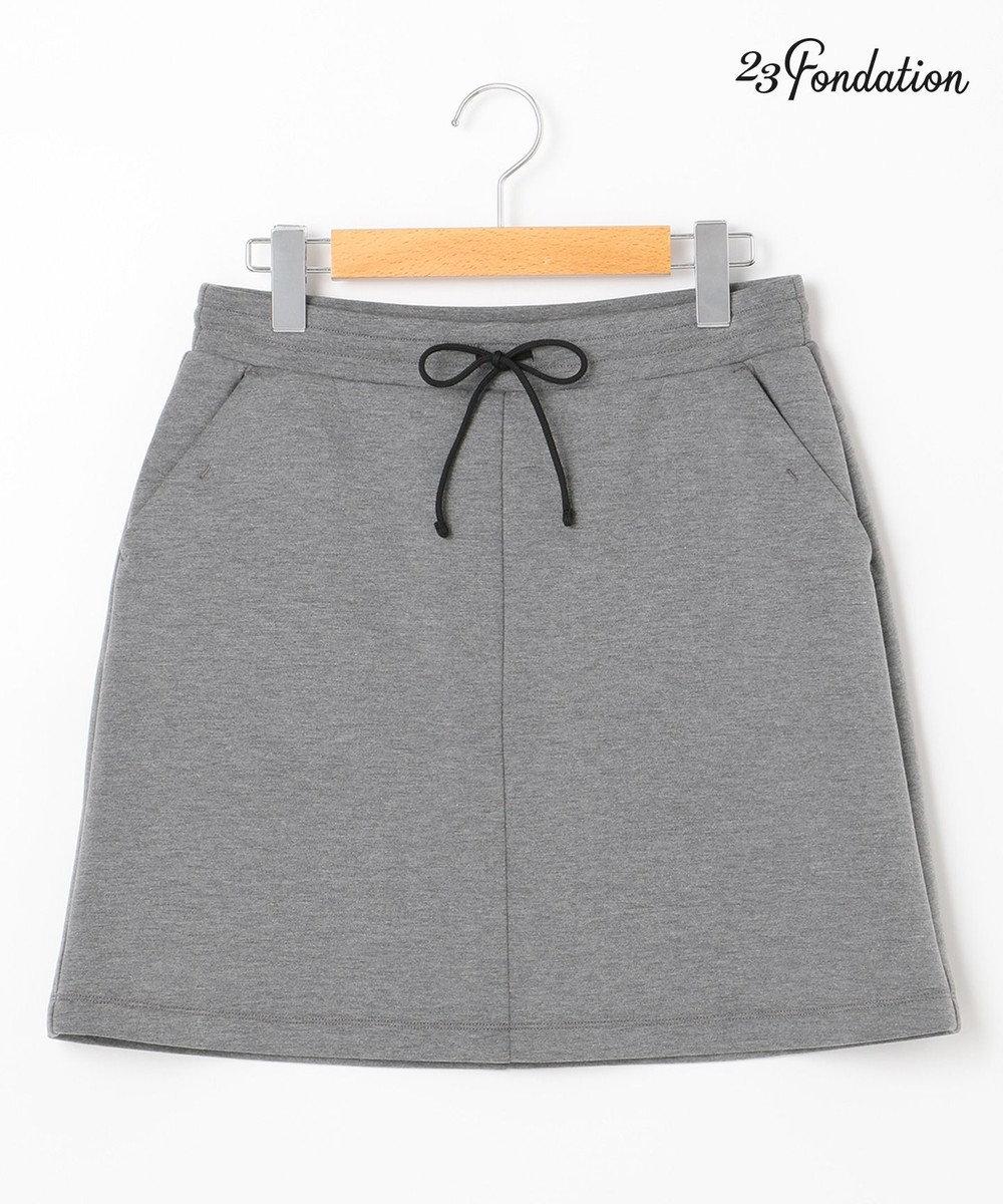 23区GOLF 【WOMEN】【Fondation/WEB限定】【ストレッチ】JERSY スカート ライトグレー系