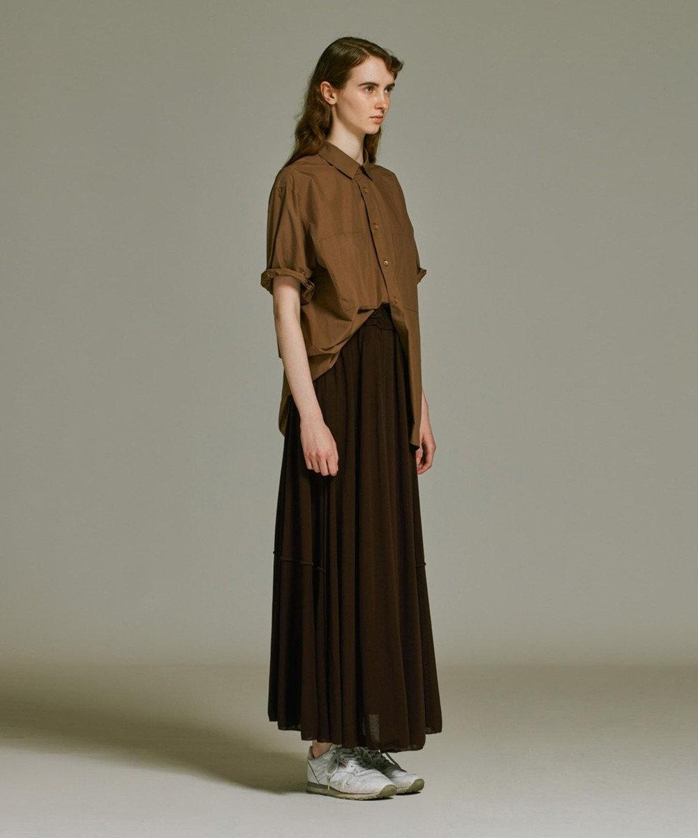 ATON FRESCA KANOKO | ギャザースカート BLACK