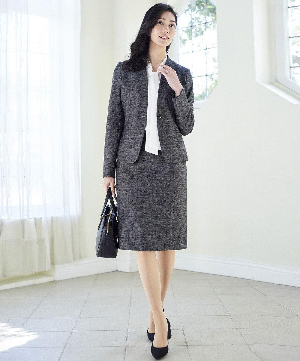 ICB L 【店頭売れ筋】Silk Nep Tweed スカート ネイビー系