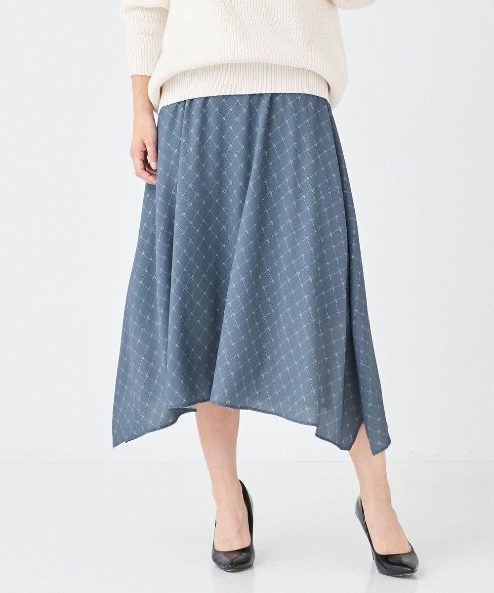 BEIGE, VOI / スカート Blue Fog×White
