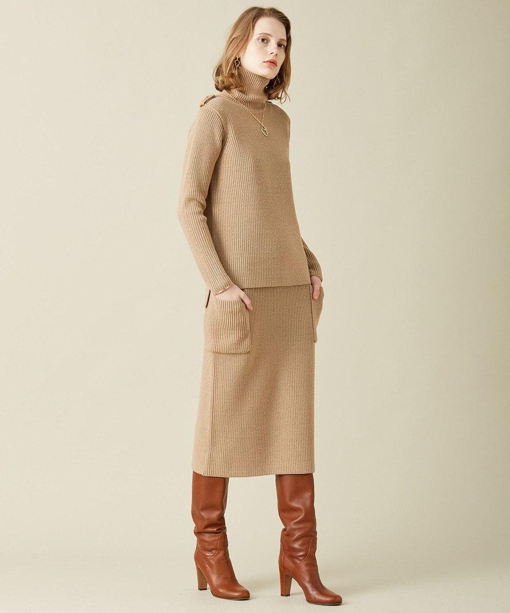 BEIGE, TUMBLE / ニットスカート Camel