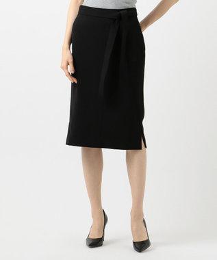 ICB L 【洗えるセットアップ】Fied サイドスリットスカート ブラック系