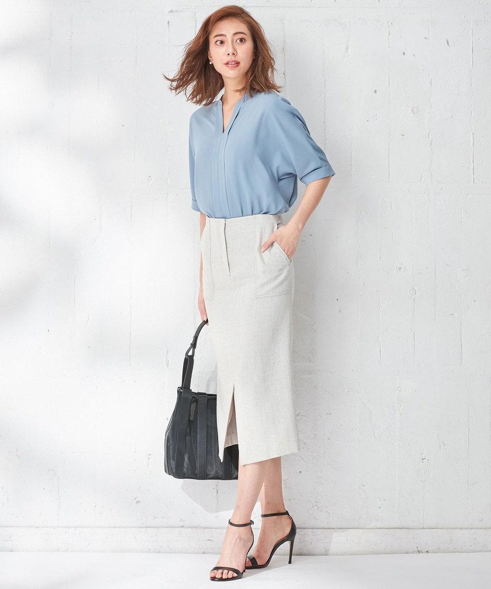 ICB 【セットアップ】Synthetic Linen スカート ライトベージュ系