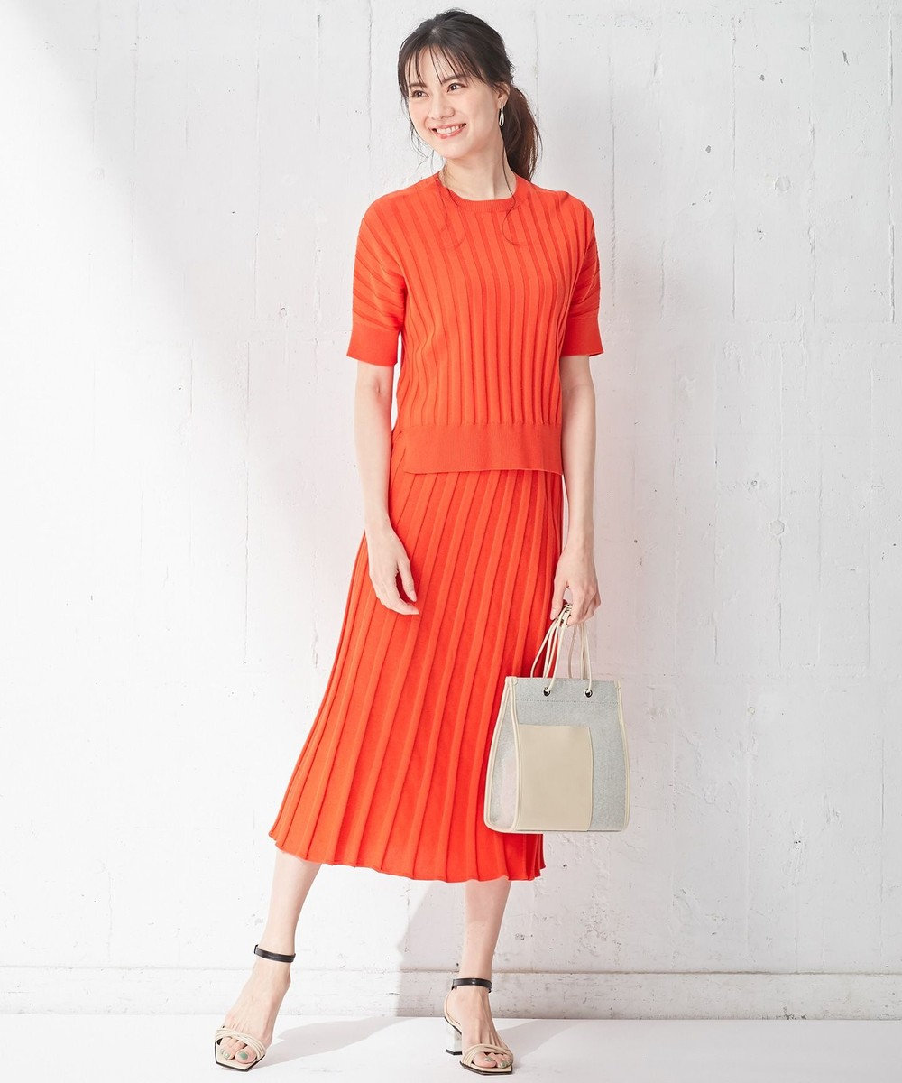ICB 【大日方久美子さん着用】Paper Cotton スカート オレンジ系