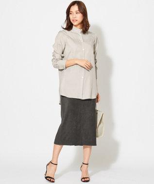 ICB L 【WEB&一部店舗限定】ストレッチスエード スカート ブラック系