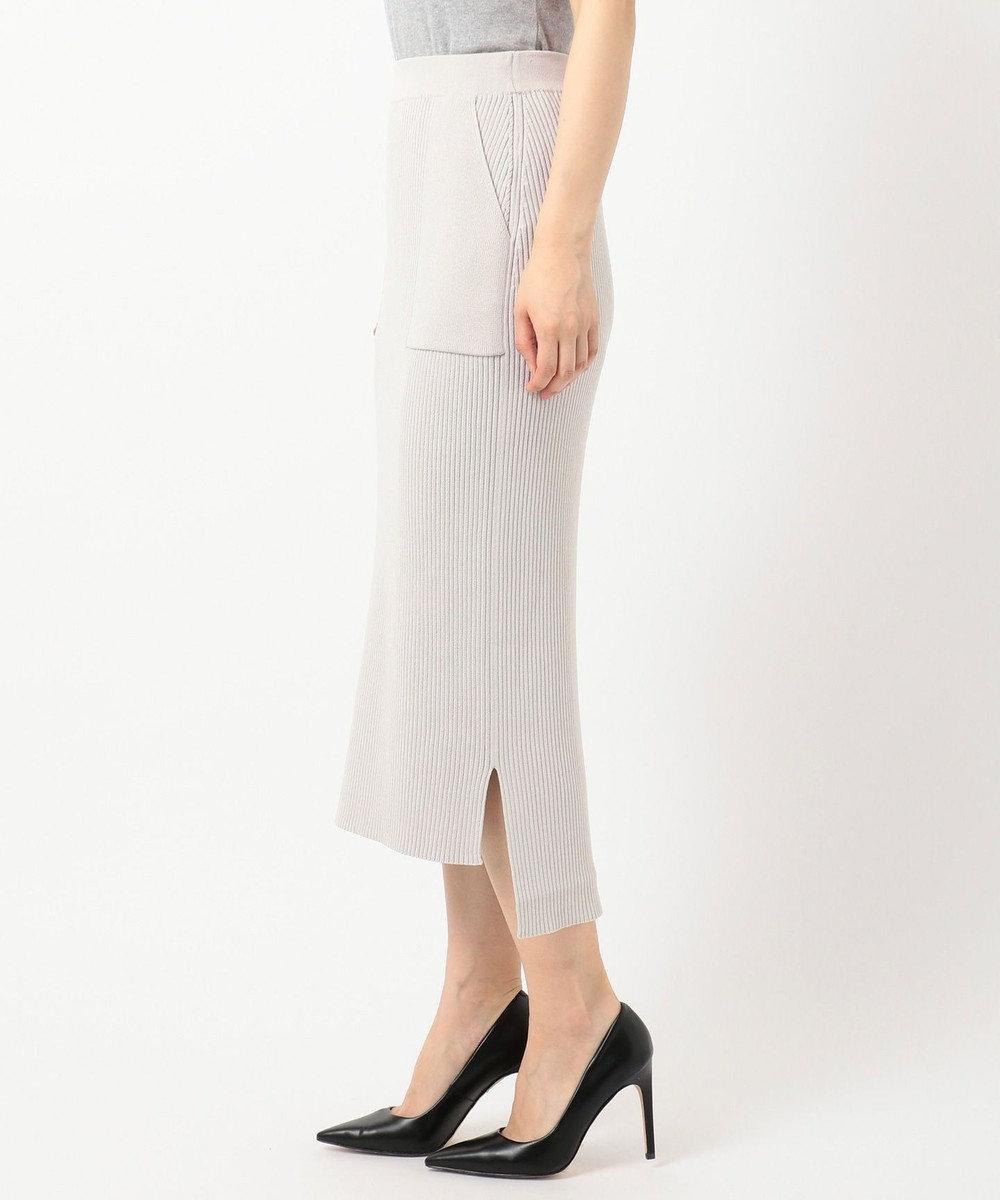 ICB 【WEB限定】Cotton Stretch ニットスカート [限定]ベージュ系