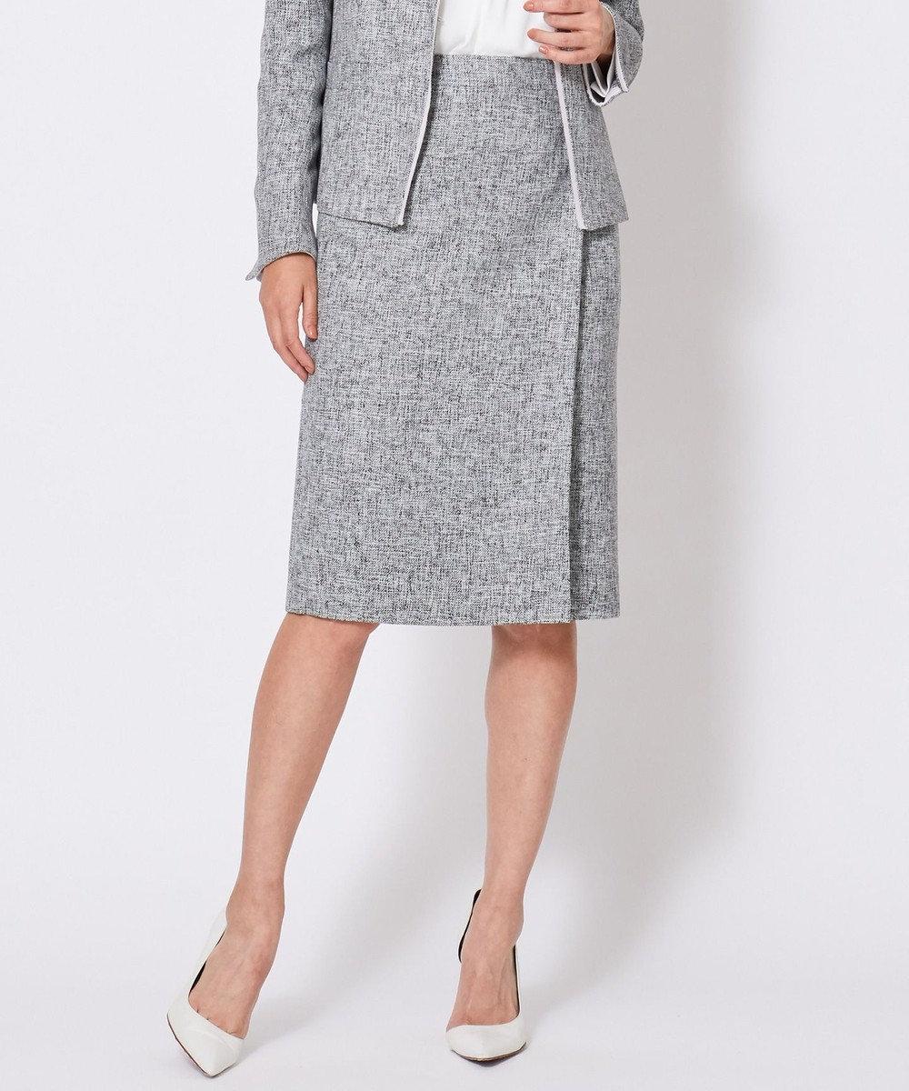 ICB L 【セットアップ対応】Tweed スカート ライトグレー系9