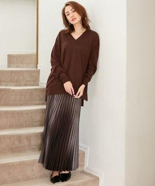 ICB 【マガジン掲載】Gloss Satin スカート(番号CE24) ダークグレー系