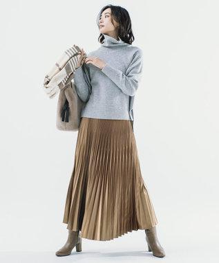ICB 【マガジン掲載】Gloss Satin スカート(番号CE24) キャメル系