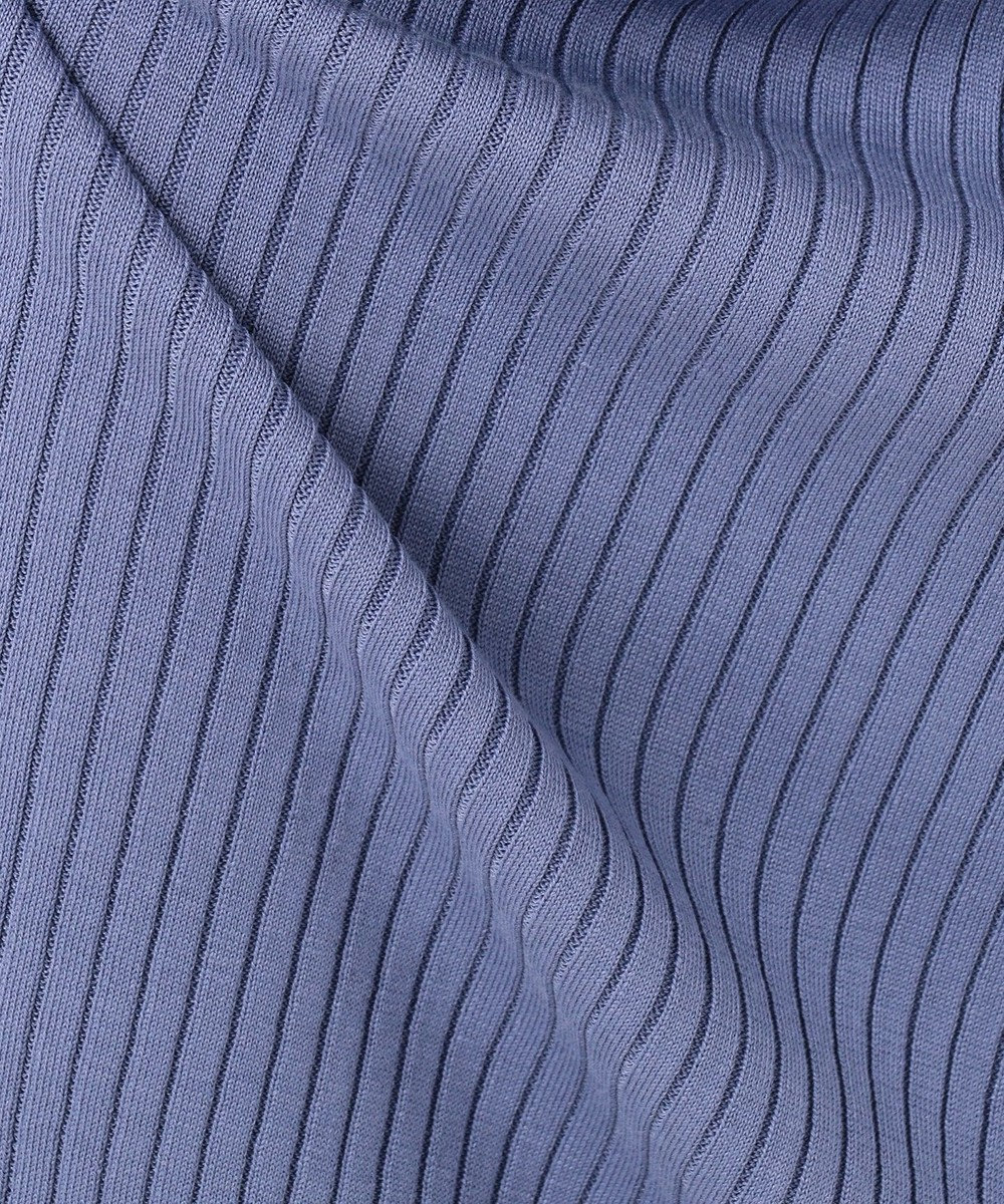 ICB L 【セットアップ】Hi Twist Silk CottonII ニット スカート ダルブルー系