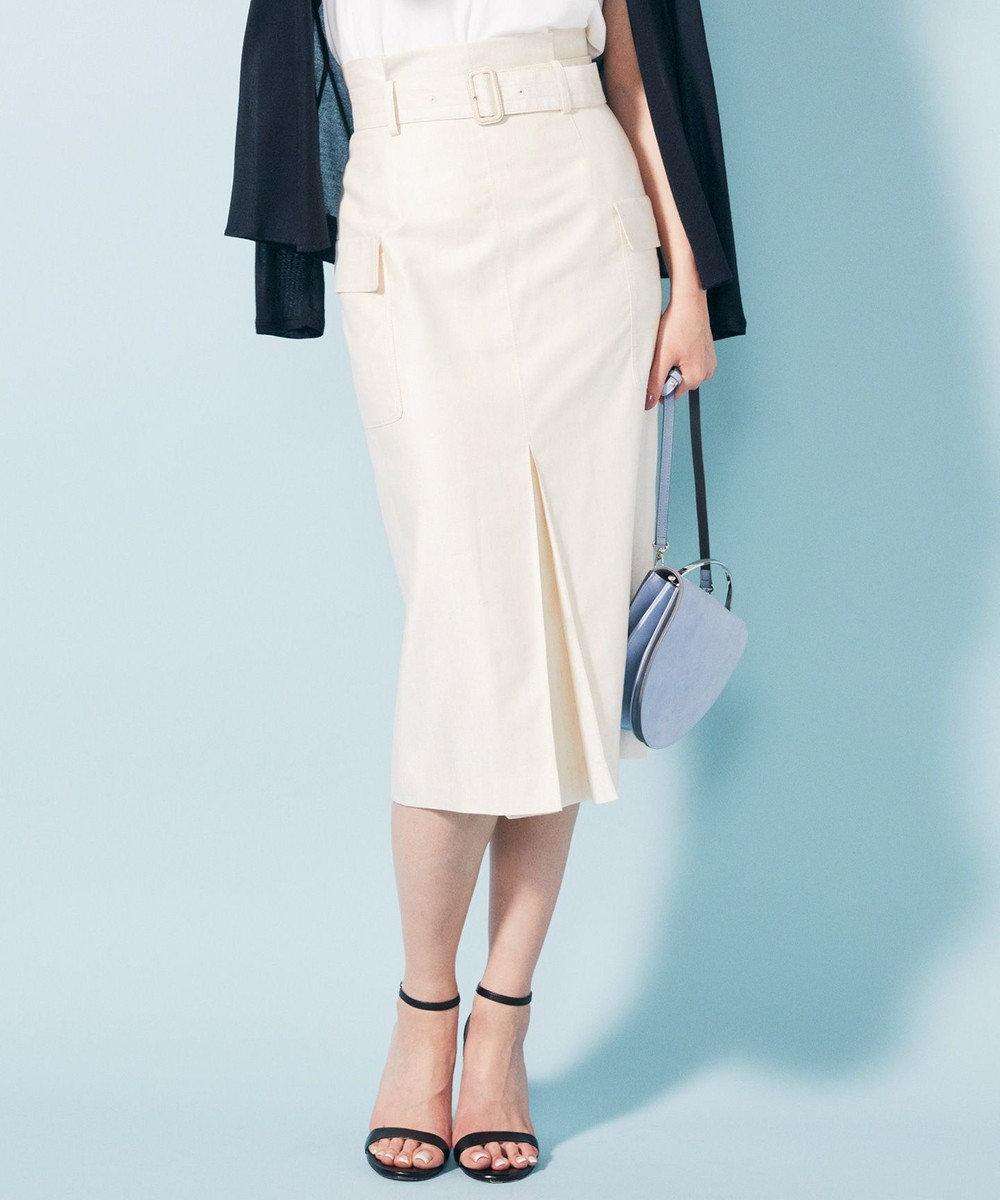 ICB 【洗える】Linen Kersey スカート アイボリー系