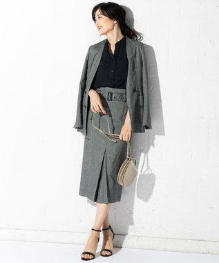 ICB 【洗える】Linen Kersey スカート ブラック系