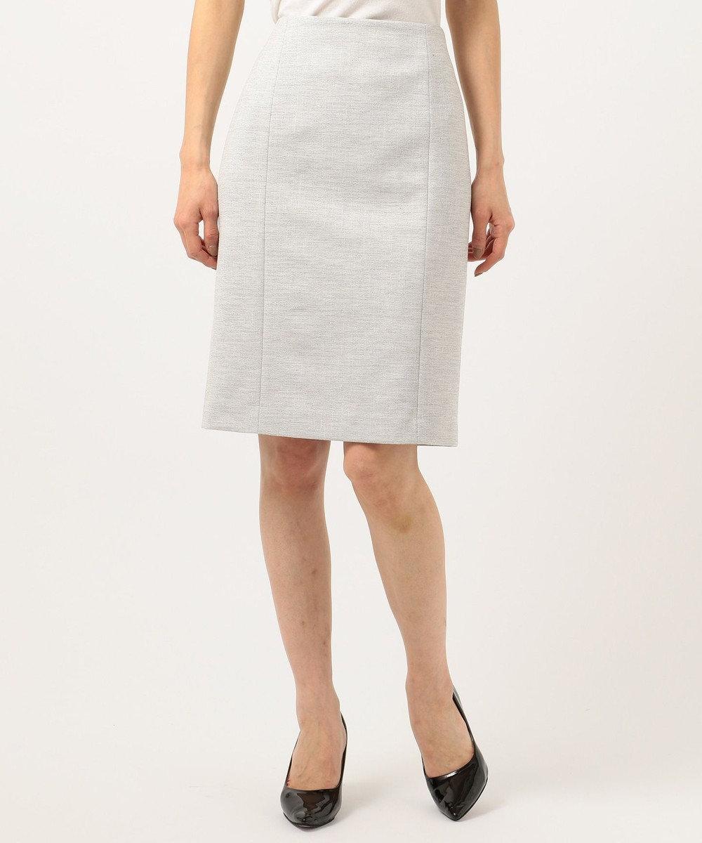 ICB L 【店頭売れ筋】Silk Nep Tweed スカート ライトグレー系
